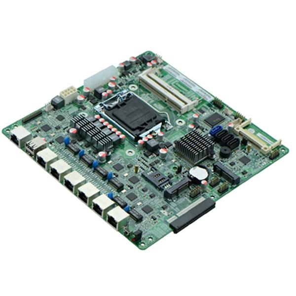Intel B75 Based Firewall Motherboard for Network Security Application 6Nic SFP 2