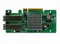 Intel 82580DB PCI-E x8 Optical Card,