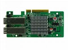 Intel 82580DB PCI-E x8 Optical Card, 2*SFP+ Ports, Firewall Hardware Accessories