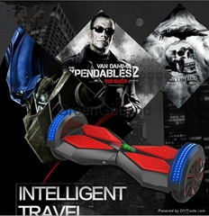 Bluetooth speaker 8 inch led light 2 wheel electric scooter