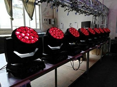 15w 19pcs Led Moving Head Beam Wash Light B-eye