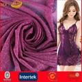 Beautiful Purple Lace Jauquard Mesh Fabric for Lingerie (JNE31167)