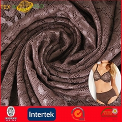 Warp Knitted Stretch Jacquard Fabric for Women Underwear (JNE31169)