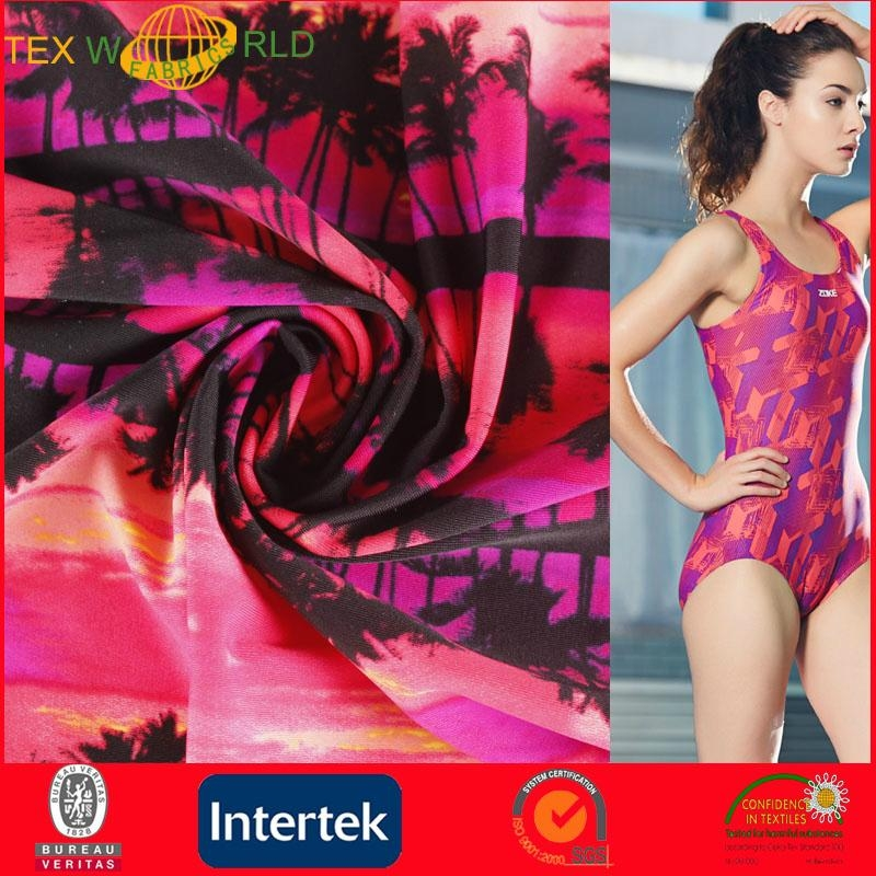 Elastic Knitted Printed Fabrc for Fashion Garment (WP1011) 1