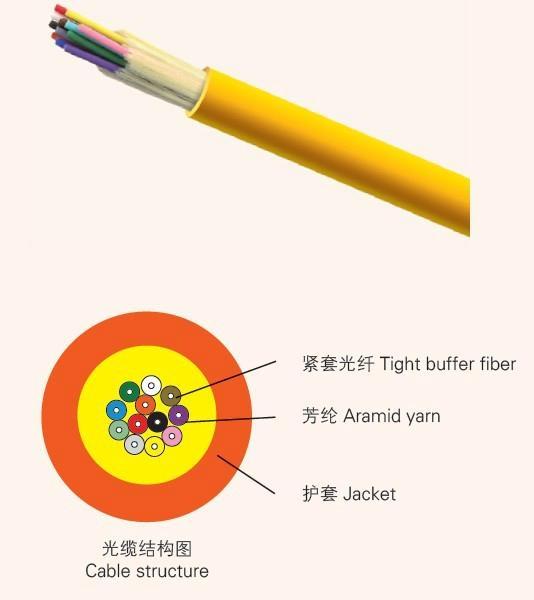 Indoor Zip-cord Interconnect Fiber Optic Cable
