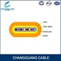 Indoor Flat Fiber Ribbon Fiber Optic Cable GJDFBV