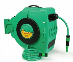 automatic retractable garden hose reel