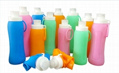 Foldable Silicone Bottles Collapsible for easy storage