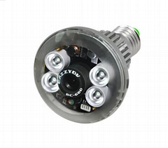 Bulb CCTV DVR Camera with Remote Control Light