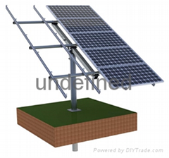 Pole solar mounting solution