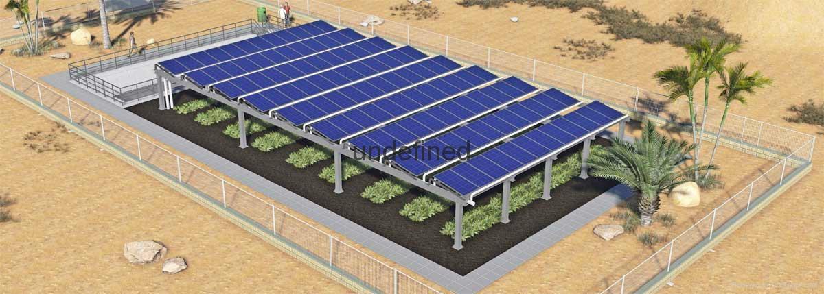 Greenhouse solar mount brackets 1