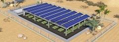 Greenhouse solar mount brackets