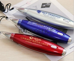 Lanyard 3 in 1 Multi Function Plastic Led Light Pen With Memo Note Paper