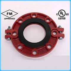 FM/UL Approved Ductile Iron Grooved Flange Coupling