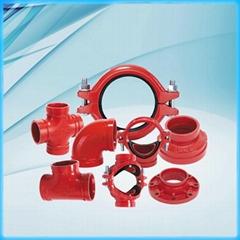FM/UL Approved Ductile Iron U-Bolts Mechanical Tee