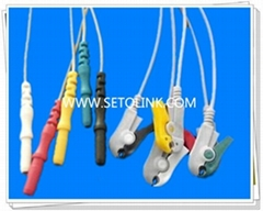 Good Price DIN STYLE SAFETY ECG LEADWIRES