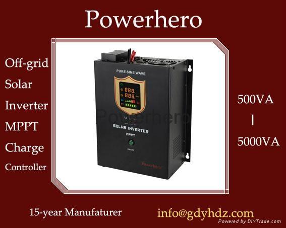 Hybrid Solar inverter UPS with Built in MPPT Solar Controller AVR function 1