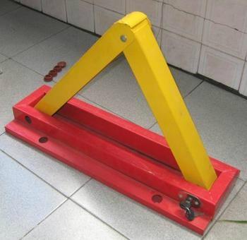 供應三角型防壓車位鎖地鎖 2