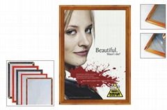 Supermarket plastic poster frame for advertising