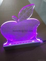 Custom RGB LED Lighted Laser Engraving Acrylic Edge Lit Sign Base