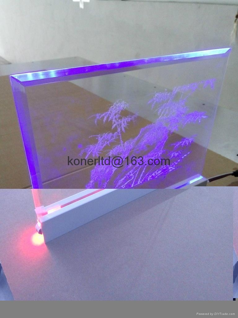acrylic led edge lit light sign acrylic 3d laser engraving koner china manufacturer. Black Bedroom Furniture Sets. Home Design Ideas