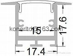 Recessed LED Profile,LED Slim Line  profile,aluminum led strip profile