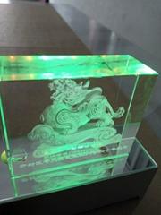 laser 3d inner crystal engraver used forcommercial center