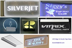 led Emergency lighting,12V Acrylic LED Lit Exit Sign for Door