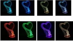 3D Laser Engraved Crystal Wedding Gifts