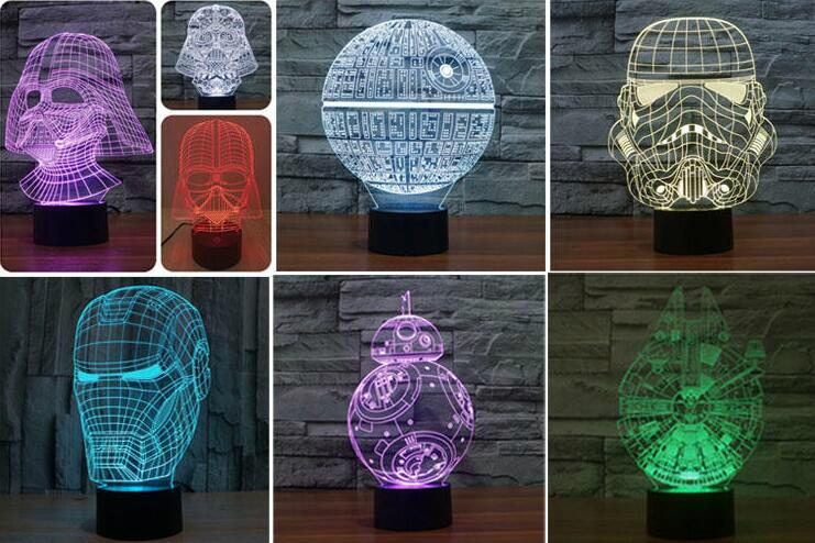 led desk decoration  Laser inner Engraving acrylic with RGB remote controller  2