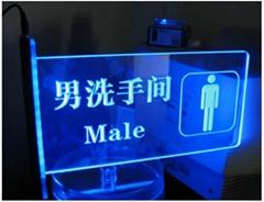 led Emergency light,custom made led laser engraving acrylic led sign