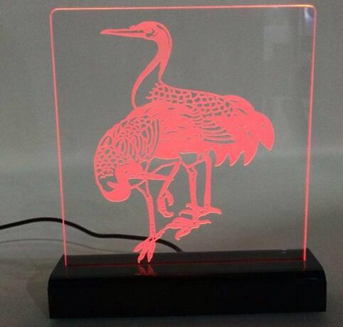 Acrylic LED Edge Lit Sign with Laser Engraving Logo, Acrylic Light Up Sign Desk  2