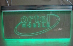 CNC laser inner engraved acrylic edge lit base led  sign
