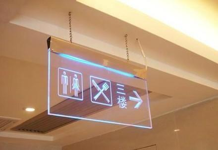led advertising guiding acrylic sign board display indoor 4