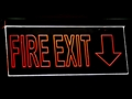 led sign fire exit glass with laser