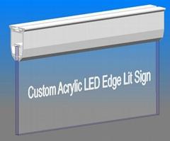 RGB lights lighting custom led edge lit sign base (Hot Product - 1*)