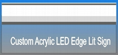 LED Edge Lit sign Profile for edge lighting glass with wall mounted (Hot Product - 1*)