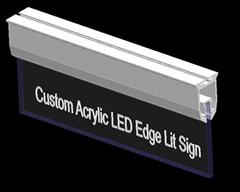12v led edge lit sign base edge lit sign