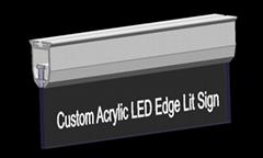 Custom Acrylic LED Edge Lit Sign,customs