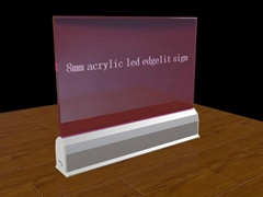 led sign fire exit glass