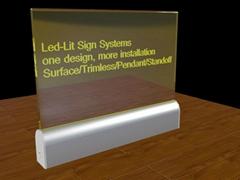glass or Acrylic LED Edge Lit Sign with Laser Engraving Logoacrylic led edge lit