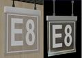 Aluminum base  Acrylic LED House Numbers