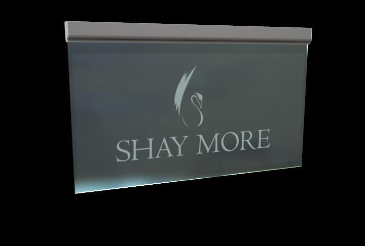 Acrylic LED Edge Lit Sign with Laser Engraving Logo, Acrylic Light Up Sign Desk  1