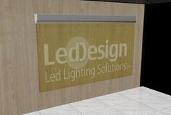 aluminum  LED Light Bar  For Acrylic led edge lit sign