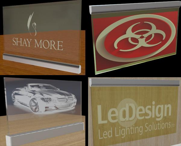 led edge-lit acrylic signs with graphic engraving 1