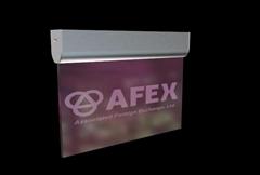 black aluminum frame advertising led acrylic guiding sign