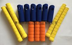 Rubber foam tubes, rubber foam protective grips