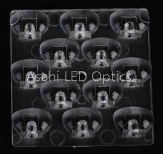 LED Area Lighting Lens 12LED 3030 50mm T3 Medium PMMA 1