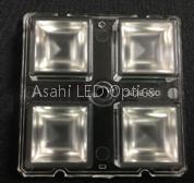 2X2 lens module LED optics for High bay 60degree
