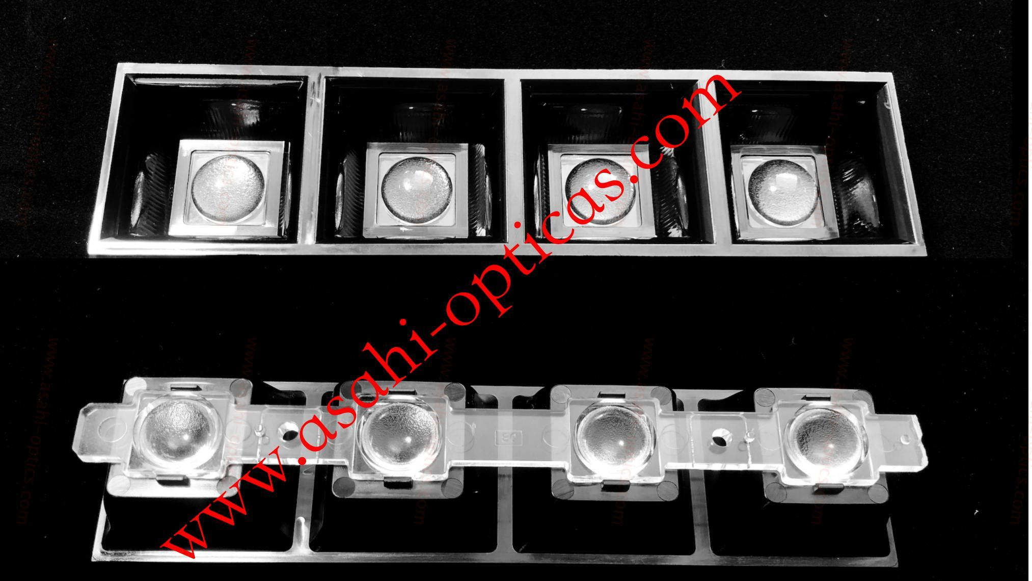 1X4 linear lens  designed with the optical grill ASL160D40H4LED50G 4